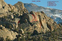 Rock Climbing Photo: Frontier - Left Side