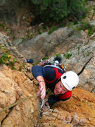 Rock Climbing Photo: Mark just about to reach the belay at the end of P...