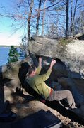 Rock Climbing Photo: Coming down on the Scoop Traverse side of the circ...