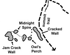 Rock Climbing Photo: Overview of Owl's Perch Area. It is possible to tr...