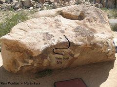 Rock Climbing Photo: Pixie Dust (V1), Joshua Tree.