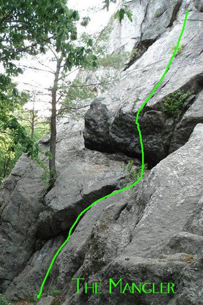 Rock Climbing Photo: The Start of The Mangler
