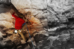 Rock Climbing Photo: Jake Whittle working I Speak Crushin 5.12d