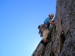 Rock Climbing Photo: Ben Deering on the first FA attempt.