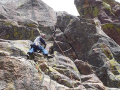Rock Climbing Photo: Just below the pitch 2 crux.