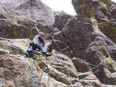 Rock Climbing Photo: Just below the pitch 2 crux.