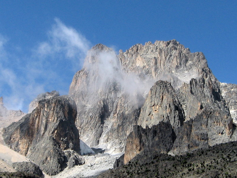 Mount Kenya, North Face Standard Route, Grade IV 5.9.