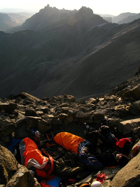 Rock Climbing Photo: The amphitheatre bivy.