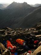 Rock Climbing Photo: The amphitheatre bivy.