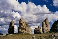 Rock Climbing Photo: The Coyote Rocks from a distance. The Trickster an...