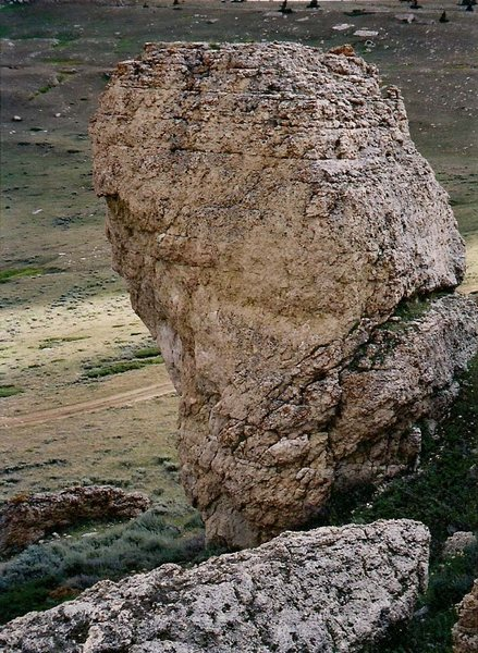 Rock Climbing Photo: The route follows the uphill slabby face. The name...