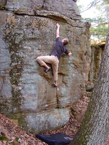 Rock Climbing Photo: On the send run...  April 09.  Tricky problem but ...