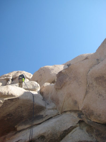 Nathan on our 1st climb of the day..