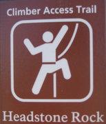 Rock Climbing Photo: Access sign...