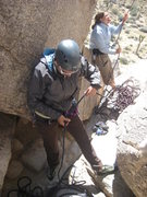 Rock Climbing Photo: getting ready to lead Cryptic...5.8?  Yeah right!