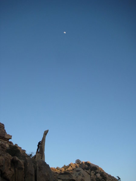 Rock Climbing Photo: Me on my attempt at Aguille de ..