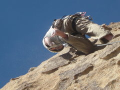 Rock Climbing Photo: Nathan on Route of All Evil...barefoot