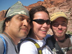 Rock Climbing Photo: Al, me and Nathan setting out on our first climb o...