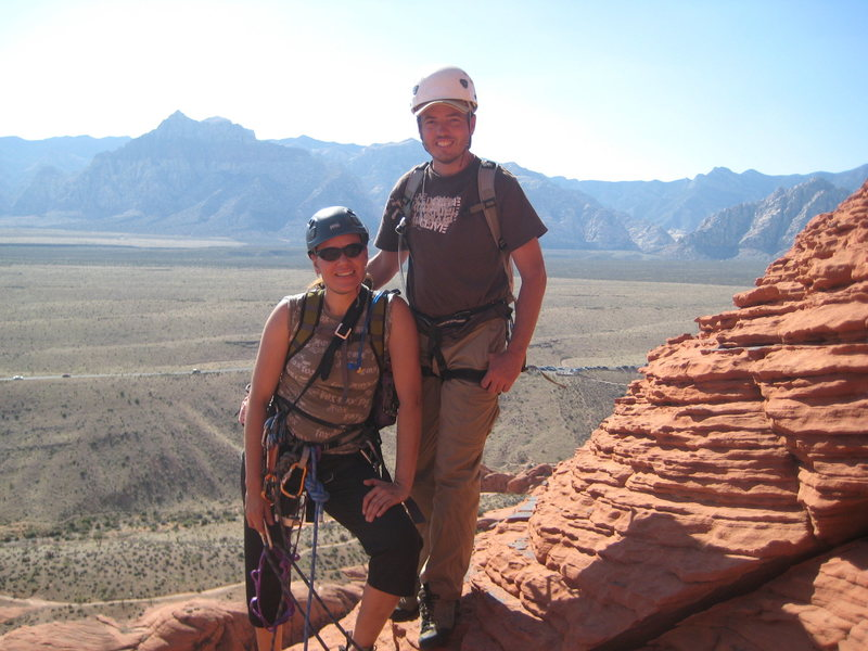Me & Nathan at the top of our first climb