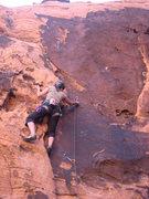 Rock Climbing Photo: Me leading an un-named 5.9