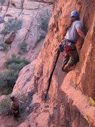 Rock Climbing Photo: Al leading an un-named 5.9