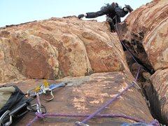 Rock Climbing Photo: Jonny casts off on p3.