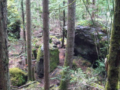 Rock Climbing Photo: one of many boulders in the campground.