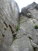 Rock Climbing Photo: The Chimney, Square Ledge, NH.
