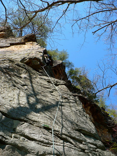 Rock Climbing Photo: Two-Step Arete, NRG, WV.