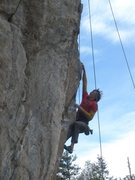 Rock Climbing Photo: Working the route before the FA.