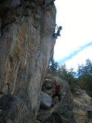 Rock Climbing Photo: Jamie hooking it up.