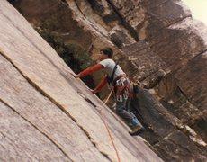 Rock Climbing Photo: Onsight ascent of Stirling Moss....... a kabillion...