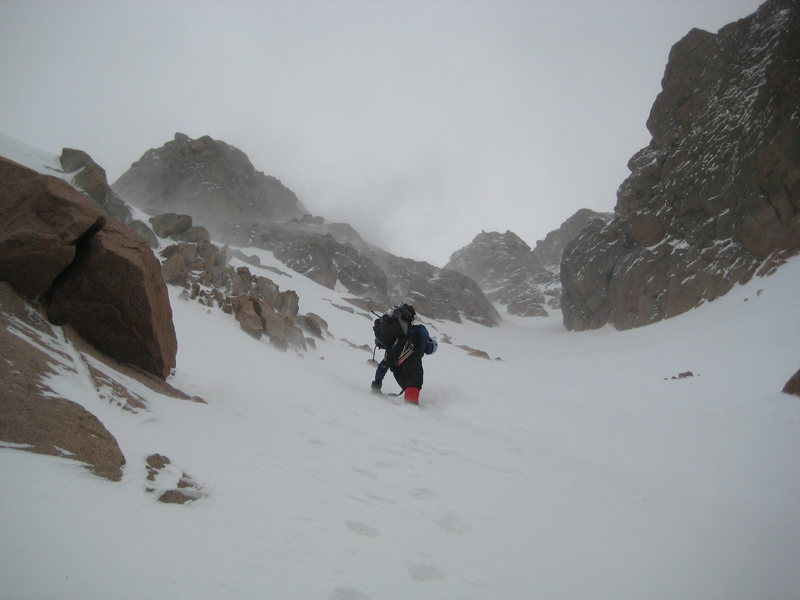 The Y Couloir on a not so nice day.