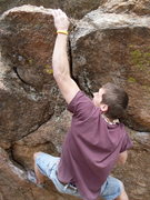 Rock Climbing Photo: Wesley with the big throw