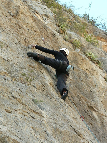 Rock Climbing Photo: Pulling on the cool bread loaf tufa.