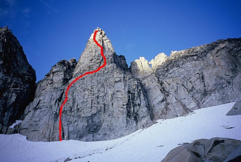 West Face of South Gunsight<br> <br> 5.9