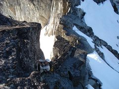 Rock Climbing Photo: Dan Hilden aiding the short (easily avoidable) pen...