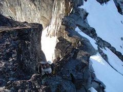 Rock Climbing Photo: Dan Hilden aiding the short (easily avoidable) pen...