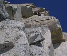 Rock Climbing Photo: The Golden Headwall pitch