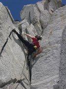 Rock Climbing Photo: Pitch 1 of Gunrunner