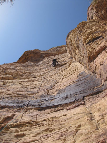 Diana leads the new, bolted last pitch.