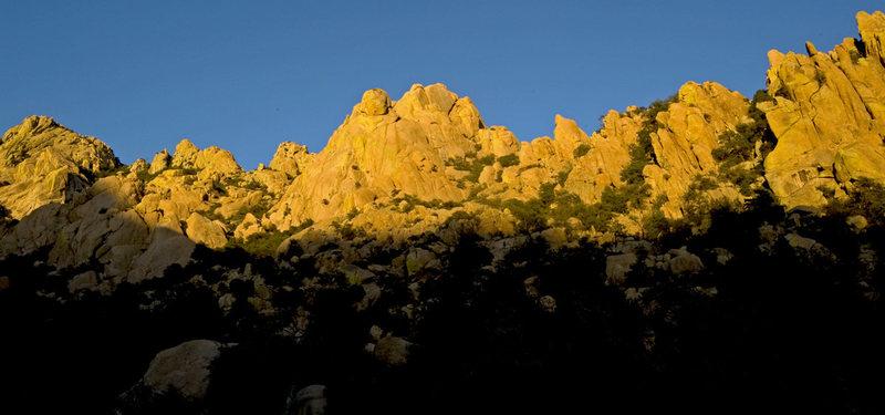 Rock Climbing Photo: sunset on westworld...