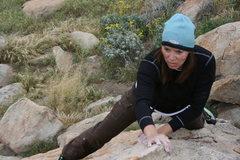 Rock Climbing Photo: Agina on Joe Browns Helmet