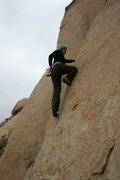 Rock Climbing Photo: Agina on the Right Triangle Boulder