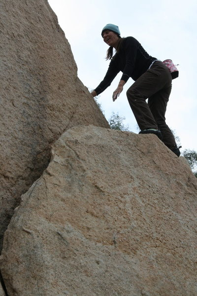 Agina on the Right Triangle Boulder