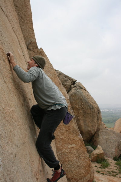 Me working the crimps on the Left Trangle