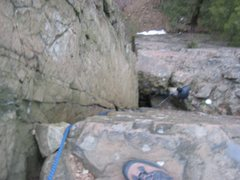 Rock Climbing Photo: Wiessner crack (looking down from top) and Weissne...