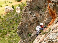 Rock Climbing Photo: Pitch 2 of Syrinx (10***).
