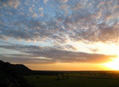 Rock Climbing Photo: Sunset at Mitre Rock.