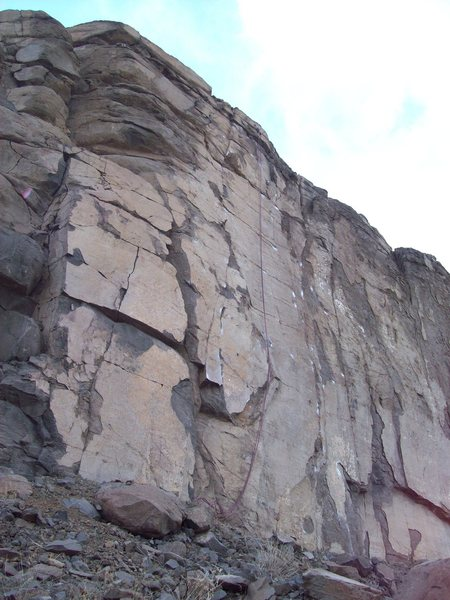 Rock Climbing Photo: Moonscape Wall, Sea Cliffs of North Quarry.